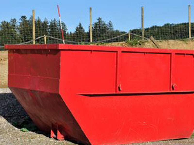 red-skip-on-work-site